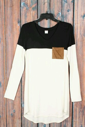 shirt black and white b&w minimalist style hot tumblr chic fashion luxury khaki brown pocket
