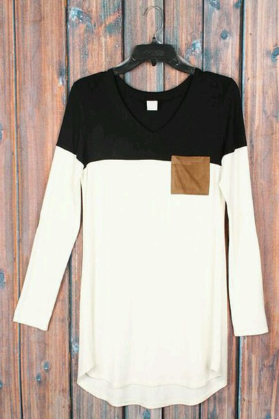 Shirt Black And White B W Minimalist Style Hot Tumblr Chic Fashion Luxury Khaki Brown