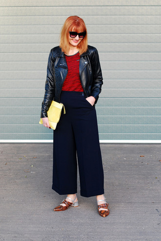 not dressed as lamb - over 40 fashion blog blogger jacket t-shirt pants shoes bag sunglasses