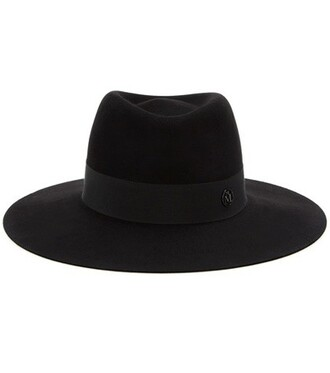 fur fedora black hat