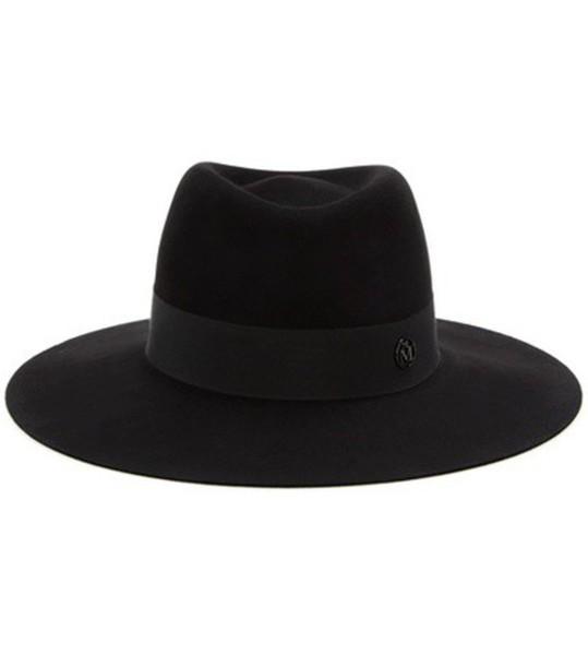 Maison Michel fur fedora black hat