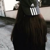 hat,adidas,black,adidas hat,tumblr,snapback,black and white,cap,grunge,white