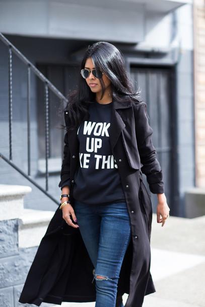 walk in wonderland t-shirt coat jeans shoes bag jewels