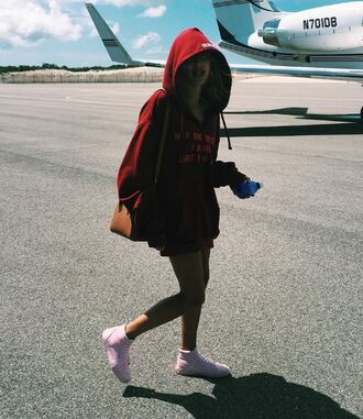 sweater hoodie sweatshirt hailey baldwin sneakers