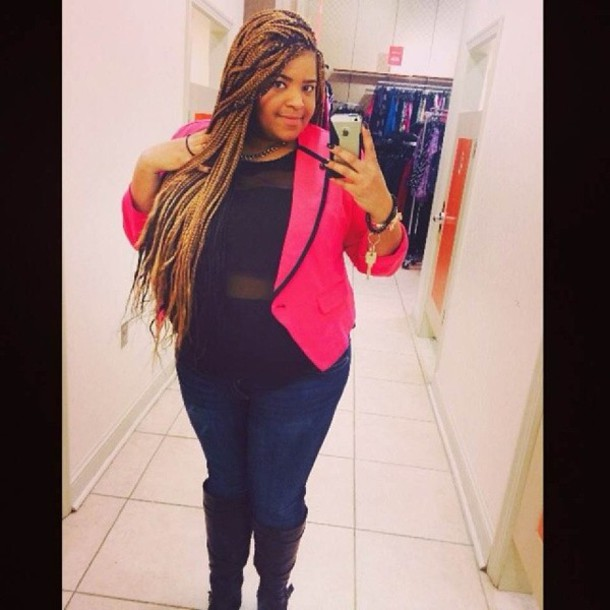 Jacket: pink, blazer, plus size - Wheretoget