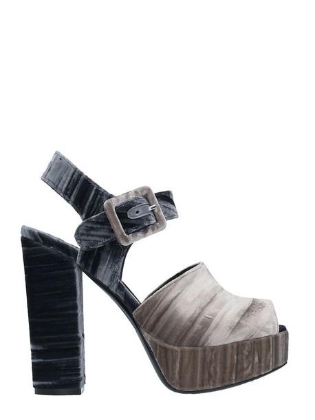 Dei Mille velvet sandals sandals velvet beige shoes