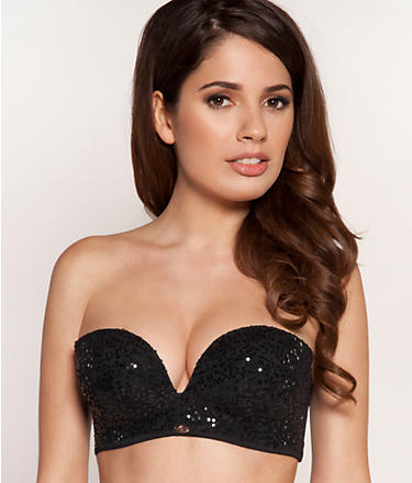 Gossard Sequin Strapless Push-Up Bra 8968 at BareNecessities.com