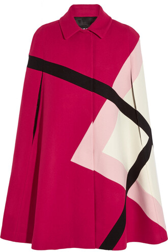 cape wool magenta top
