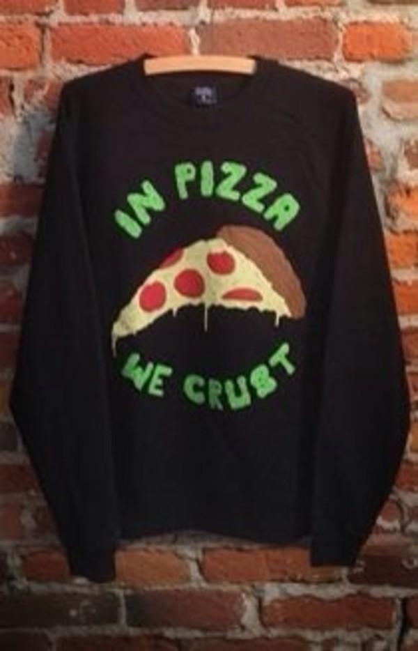 shirt sweater pizza grunge acid wash