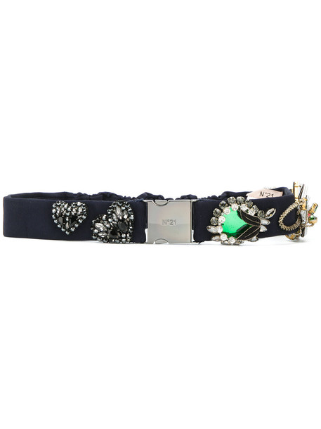 No21 women embellished belt cotton blue