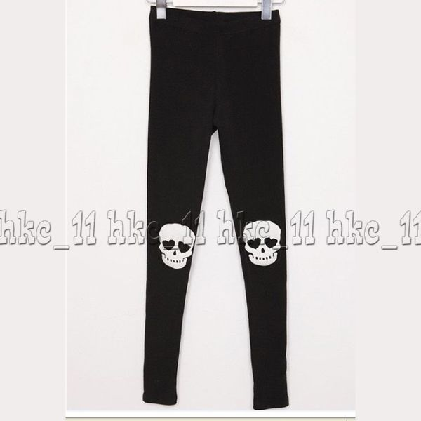 New Women's Skull Pants Skeleton Leggings Ladies Stretch Cotton Tights 2 Colors | eBay