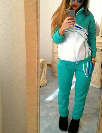 pants set 2 piece set women sportswear sporty sports pants sports leggings baseball jacket active leggings active wear tops active style activewear set outfit outfit idea fall outfits tumblr outfit winter outfits office outfits cute outfits urban outfitters date outfit streetwear streetstyle hipster mint