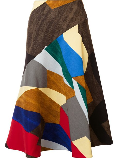 skirt midi skirt women midi spandex print silk wool