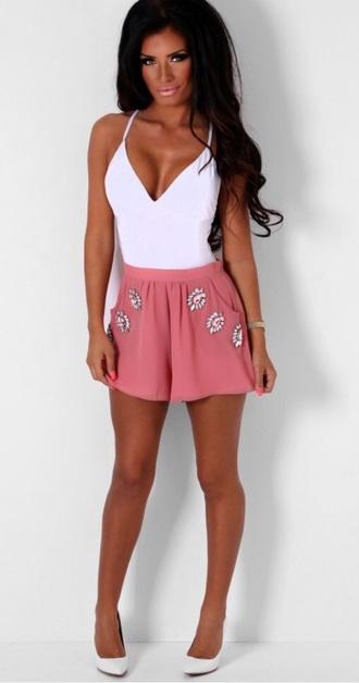 pink shorts pink shorts chiffon