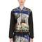 Neoprene & cotton velvet bomber jacket