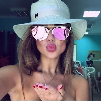 sunglasses pink mirror sunglasses
