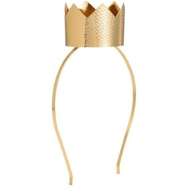 hair accessory gold crown headband headpiece piece queen of hearts women  ladies girl bde70348b07