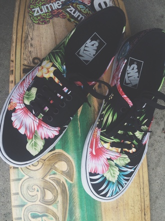 shoes vans floral