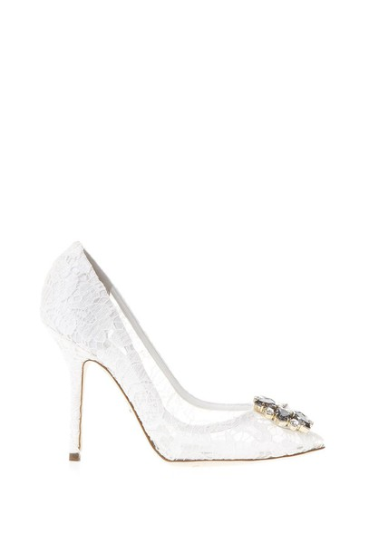 Dolce & Gabbana open shoes lace white