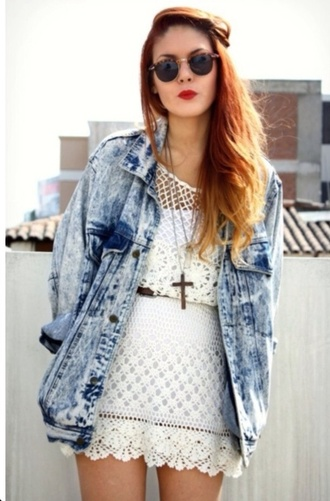 jacket denim jacket blue acid wash oversize