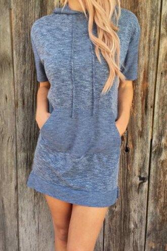 dress grey fashion hooded dress style comfy trendy short dress casual cool rosegal-jan girly girl girly wishlist