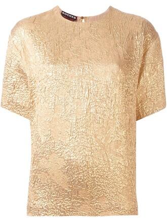 t-shirt shirt metallic yellow orange top