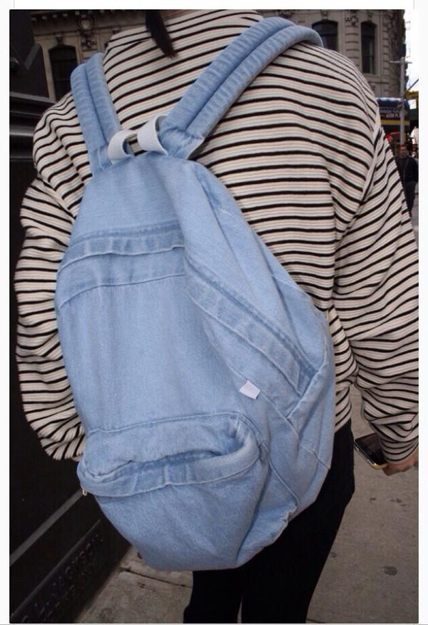 bag denim backpack