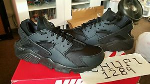 2490c3a75642 Nike Air Huarache Women s WMNS Run Triple Black Out All 634835 ...