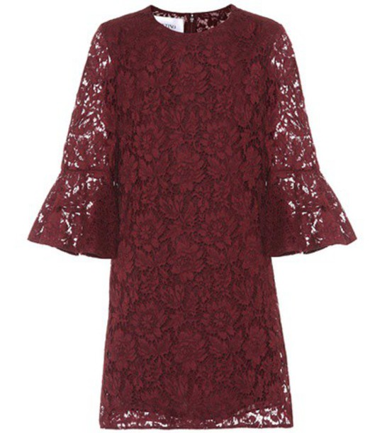 Valentino lace red dress