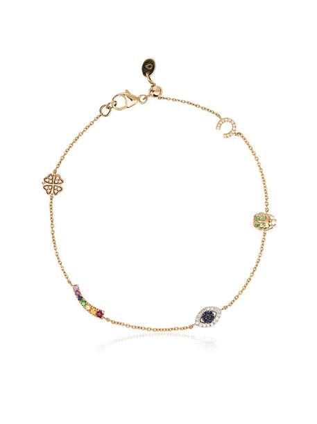 LOQUET women charm bracelet gold yellow jewels