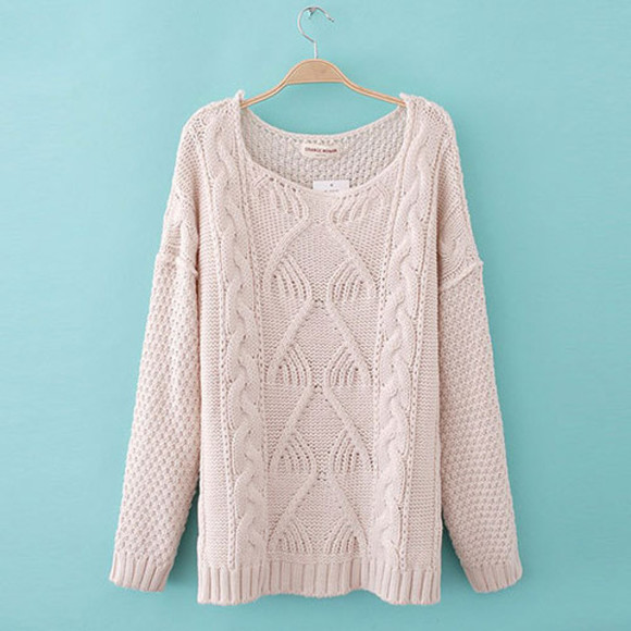 casual sweater loose hollow out