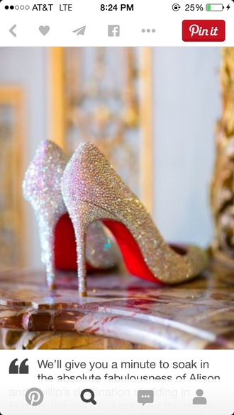 shoes heels louboutin sparkly