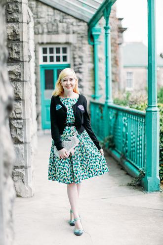 the clothes blogger dress cardigan shoes bag