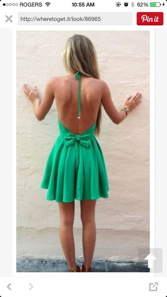 dress backles dress green dress