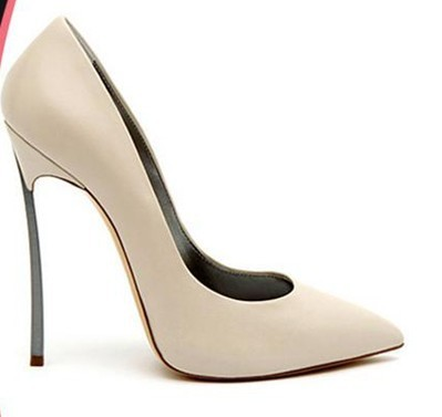 2013 Kim Kardashian Metal Blade high heel leather pointed toe blade heel pumps brand shoes-in Pumps from Shoes on Aliexpress.com