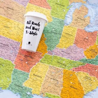 home accessory the shopping bag style mug travel mug travel road trip stylish holidays traveling