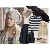 hat,the amazing spider man,emma stone,beanie,skirt