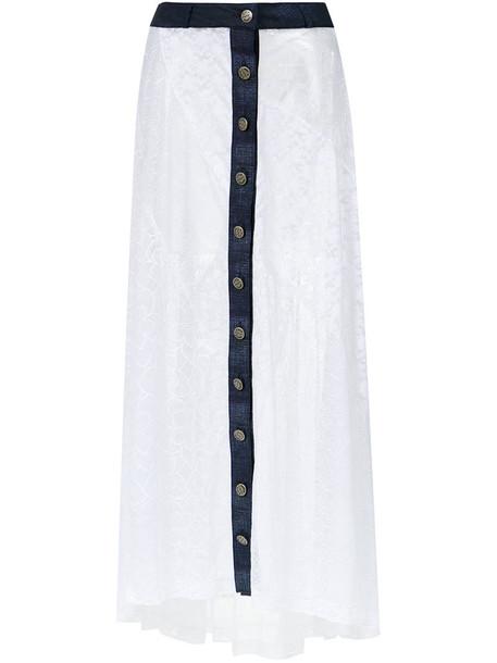 AMIR SLAMA skirt lace skirt long women lace white