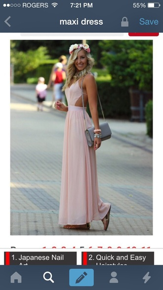 dress pink dress maxi dress long dress prom dress
