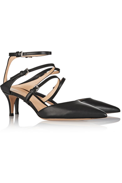 Gianvito Rossi | Leather point-toe pumps | NET-A-PORTER.COM