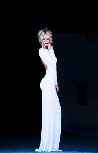 dress white dress long dress prom dress
