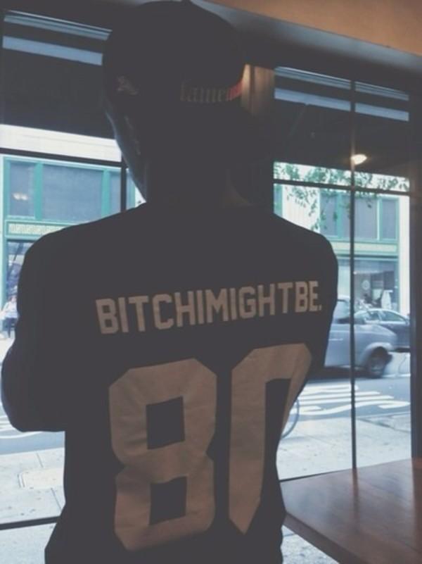 shirt black shirt t-shirt bitchimightbe 80 t-shirt ASAP Rocky t-shirt black and white black white graphic tee
