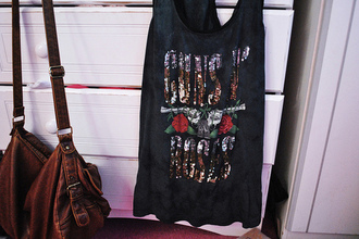 guns and roses singlet sparkle black t-shirt red t-shirt grey t-shirt orange t-shirt green t-shirt