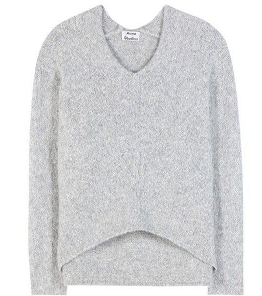 Acne Studios Deborah Alpaca-blend Sweater in grey
