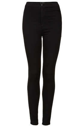 MOTO Black Joni Jeans - Joni Super High Waisted Jeans - Jeans  - Clothing - Topshop
