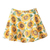 ROMWE | ROMWE Sunflower Print Pleated Zippered Denim Skirt, The Latest Street Fashion