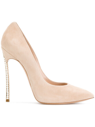 women pearl embellished pumps leather nude shoes