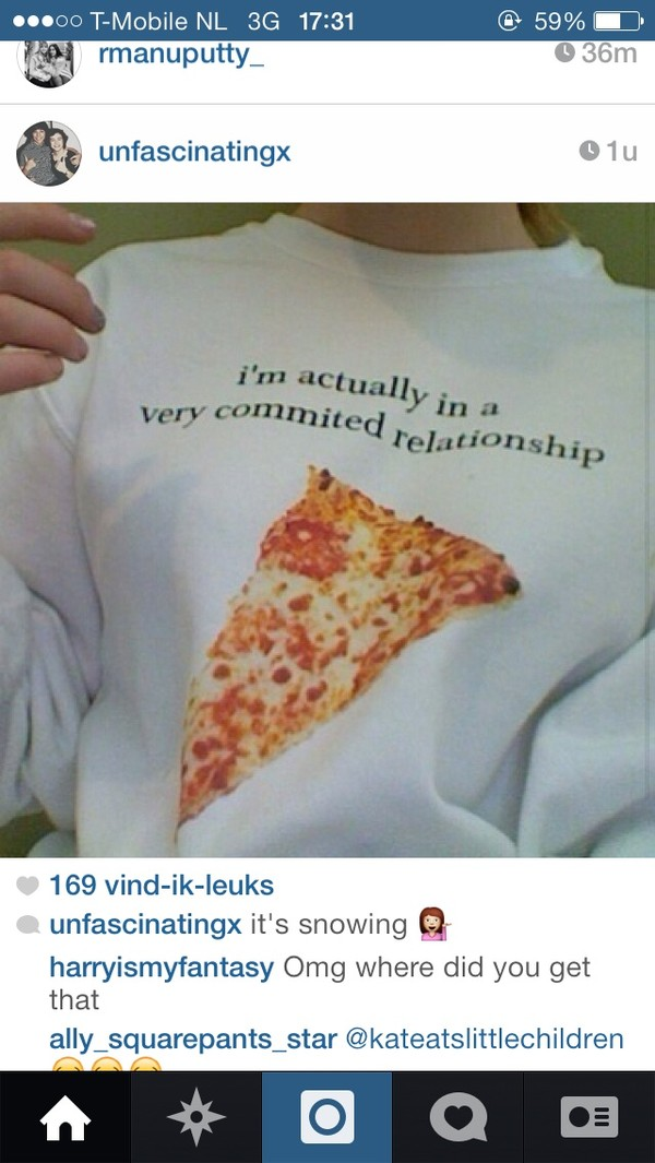 t-shirt t-shirt pizza shirt