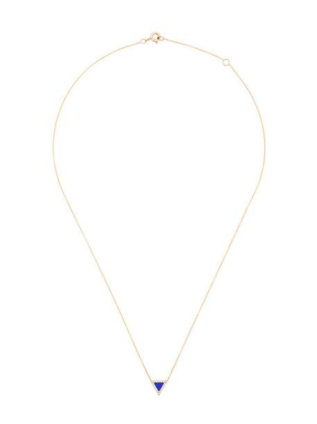 Diane Kordas triangle women necklace gold yellow grey metallic jewels