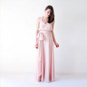 dress,blush pink,maxi dress,flowy dress